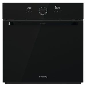 תנור בנוי מסדרת Simplicity גימור זכוכית שחורה מבית gorenje דגם BO74SYB
